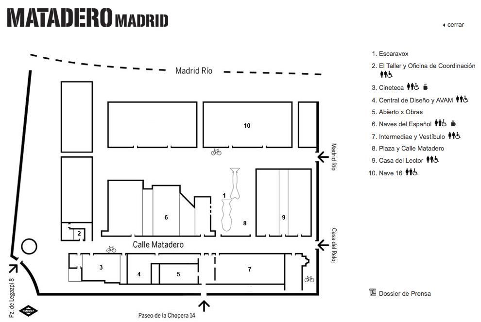 Plano de Matadero de Madrid Mapa, Concurso