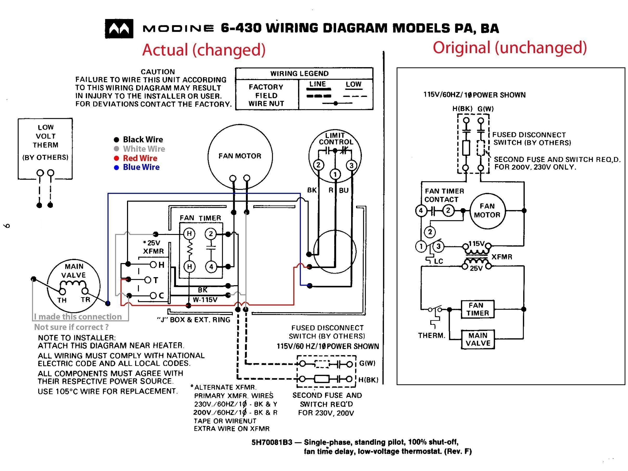Baseboard Heaters Wiring Diagram For Dayton