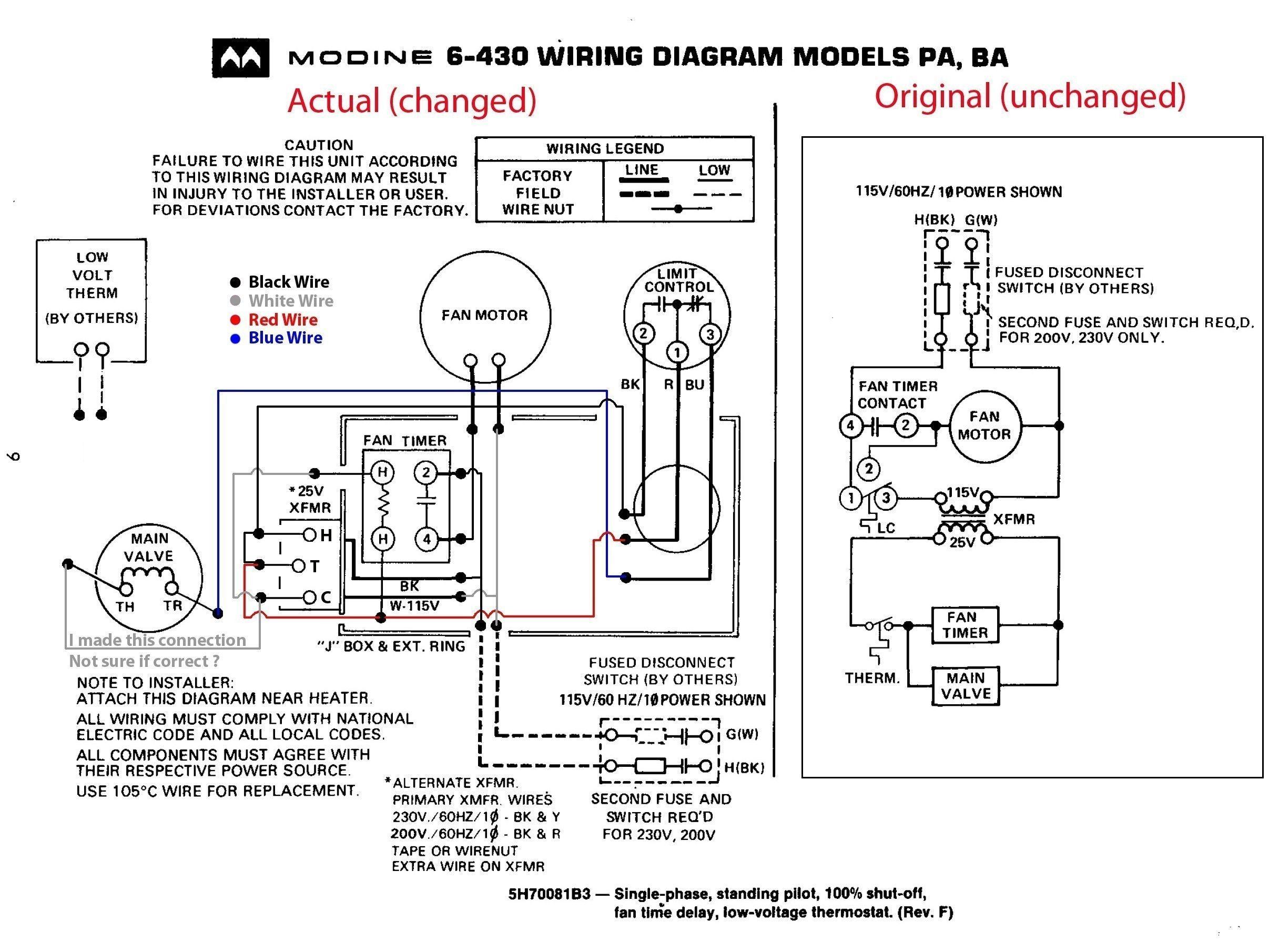 Baseboard Heaters Wiring Diagram For Dayton