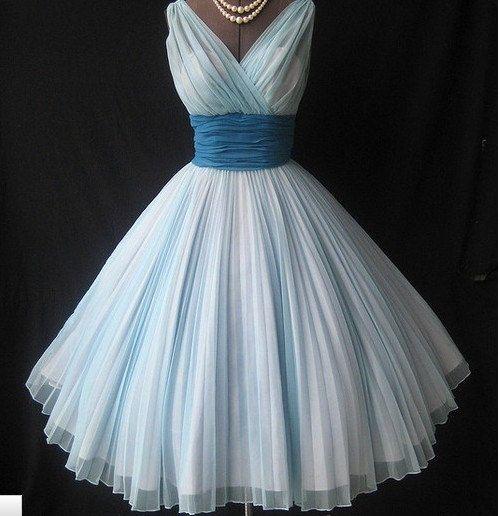 Vintage Formal Dresses | Charming Sweetheart Vintage Chiffon prom ...