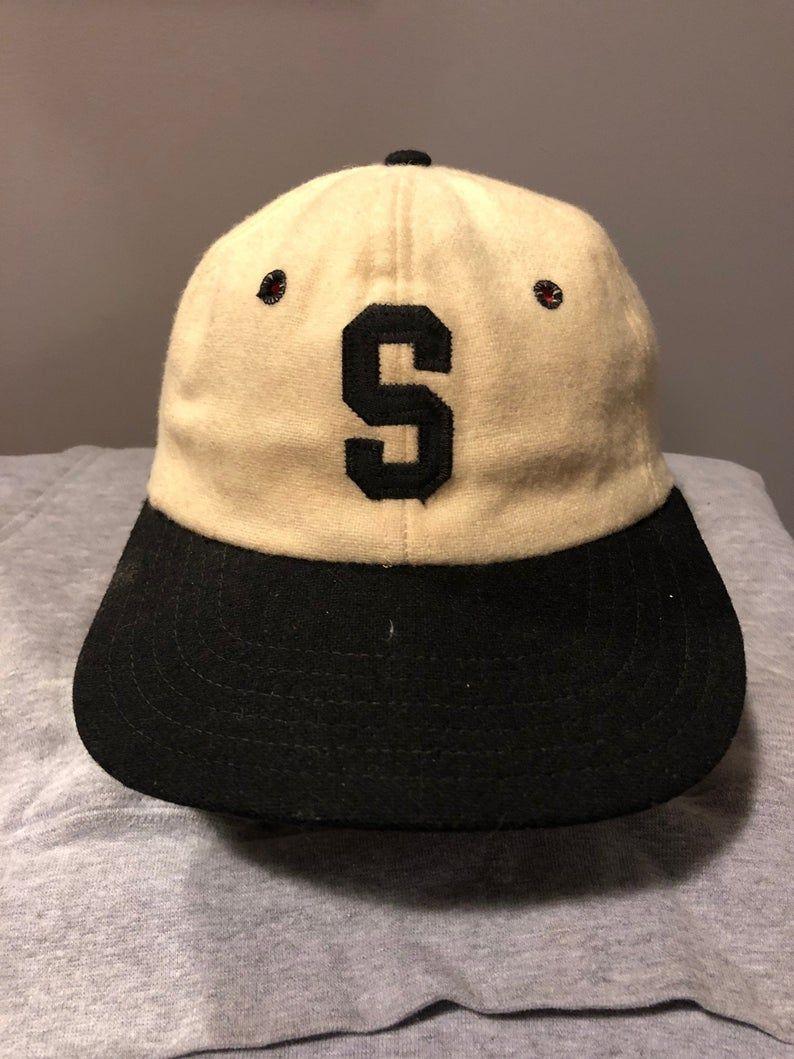 46ed9a554 Vintage 1950s White & Navy New Era Wool Baseball Cap, Size: Boys One ...
