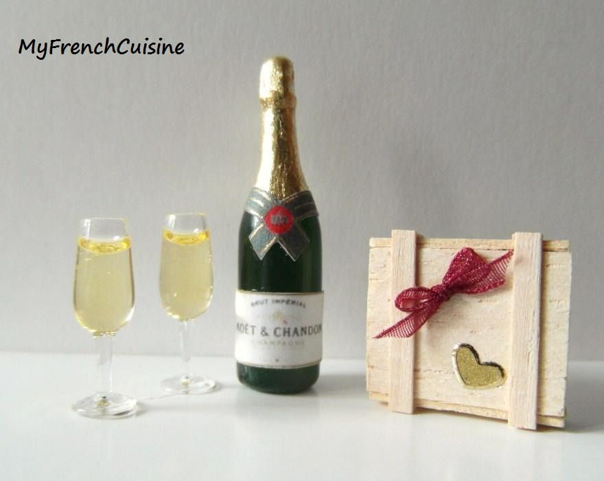 Valentine day Champagne and chocolates by MyFrenchCuisine on Etsy
