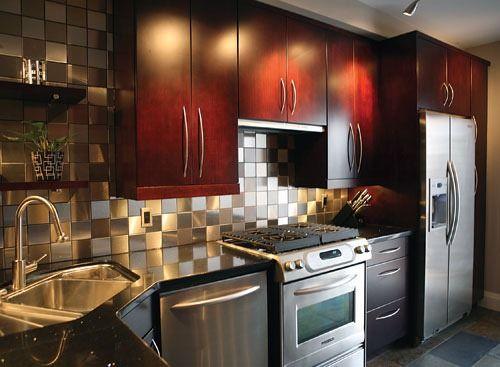 Fotos de cocinas peque as modernas interiores for Cocinas integrales modernas pequenas