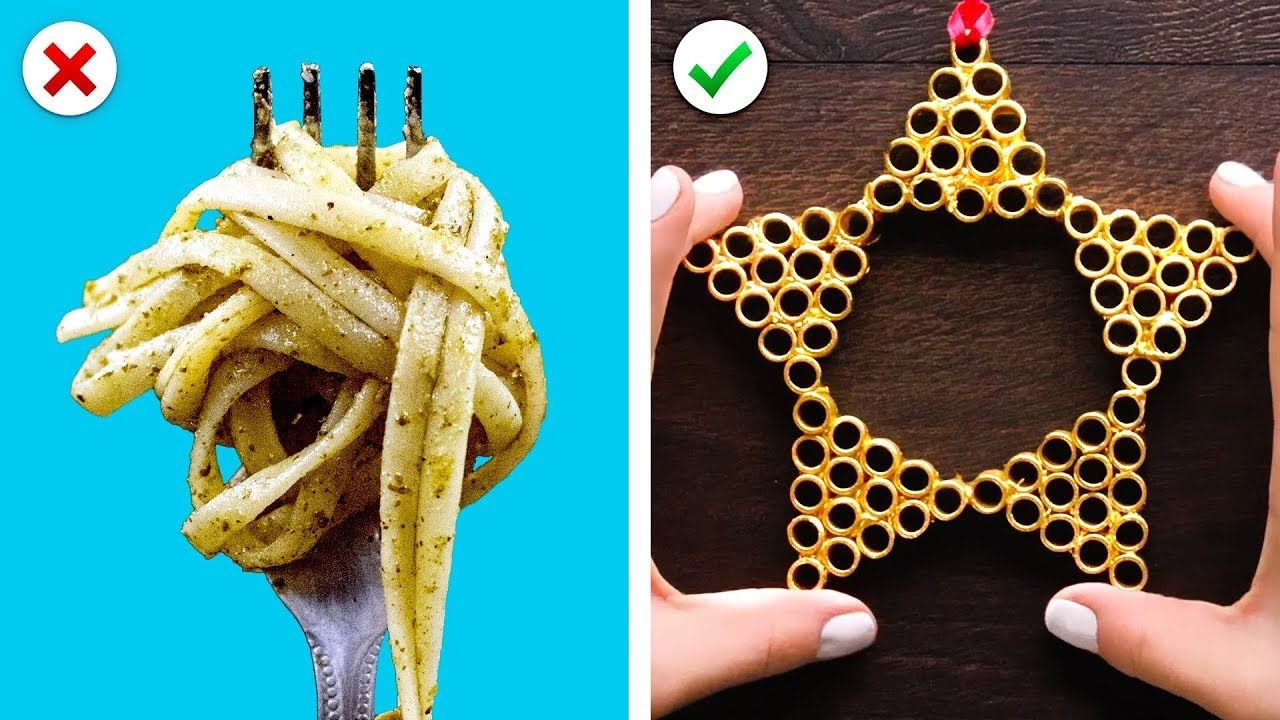 Turn Pasta into Christmas Decor Plus More DIY Christmas Decoration Ideascameraphone