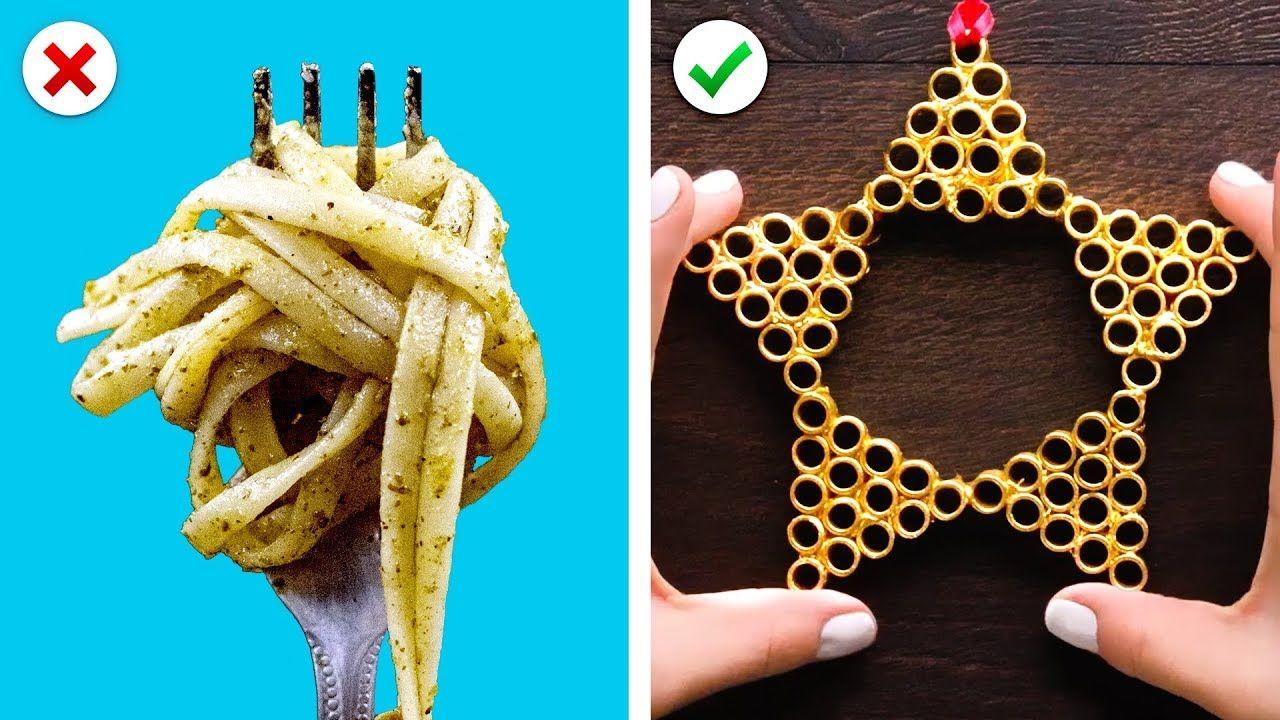 Turn Pasta into Christmas Decor Plus More DIY Christmas Decoration Ideascameraphone
