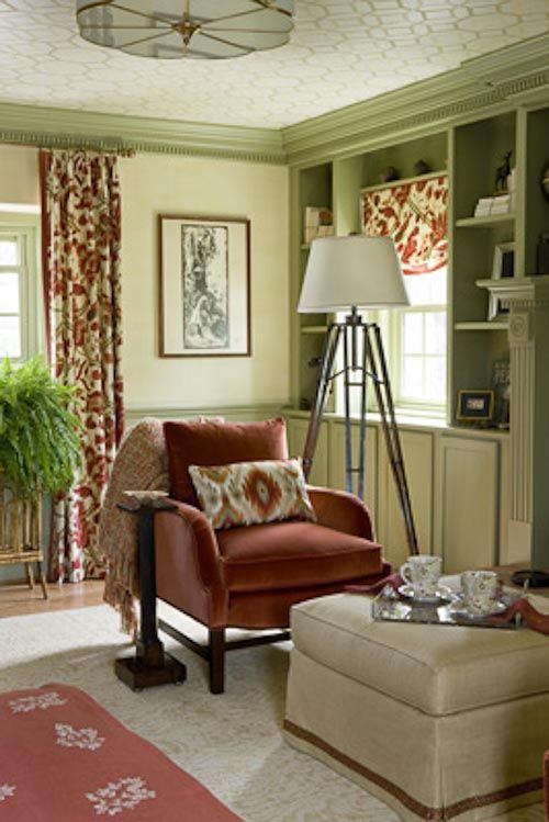 Benjamin Moore Rosemary Sprig And Bold Rust Accents I Like This For My Kitchen