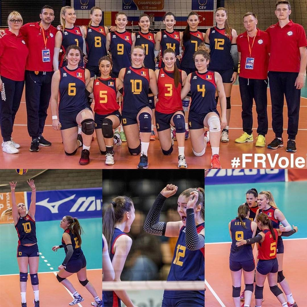 Great Mach Against Serbia Greatteam Proudofyou Ourgirls Volleyball Volei Romaniangirls Volleyball Eurovolleyu18w Romanian Girls Great Team Volleyball