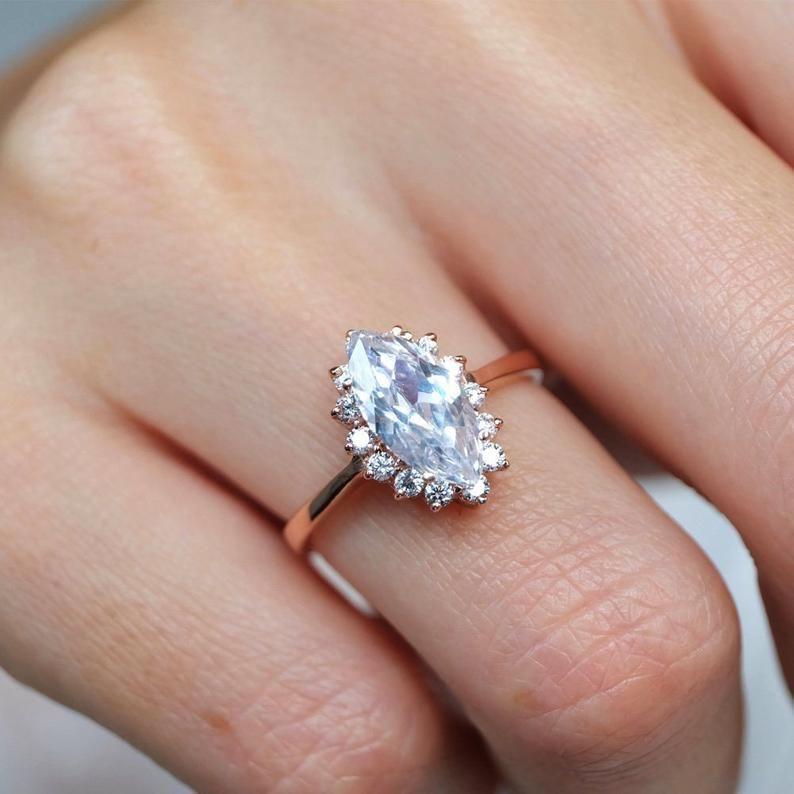 28+ Topaz wedding rings etsy ideas