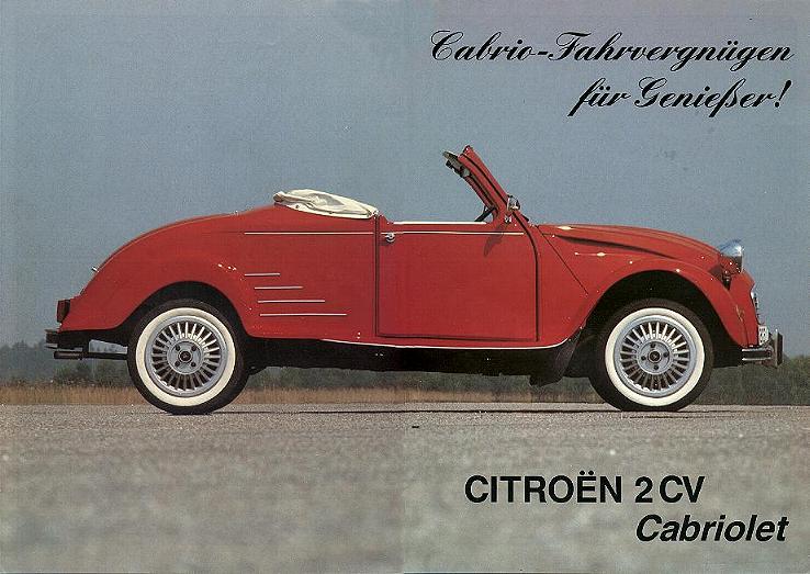 Citroen 2pk Cabriolet Hoffmann Citroen Cabriolets Citroen 2cv
