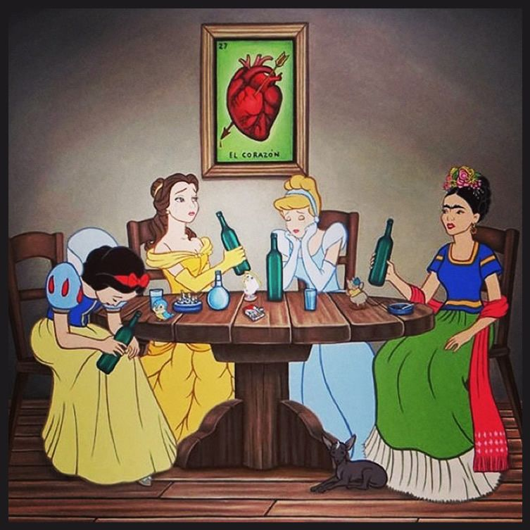 Mexican artist's re-imagined Disney cast takes a Pop at religious themes... http://www.we-heart.com/2014/08/15/jose-rodolfo-loaiza-ontiveros-profanity-pop/