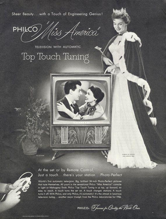 1955 Philco Television Ad Miss America Photo Print by AdVintageCom
