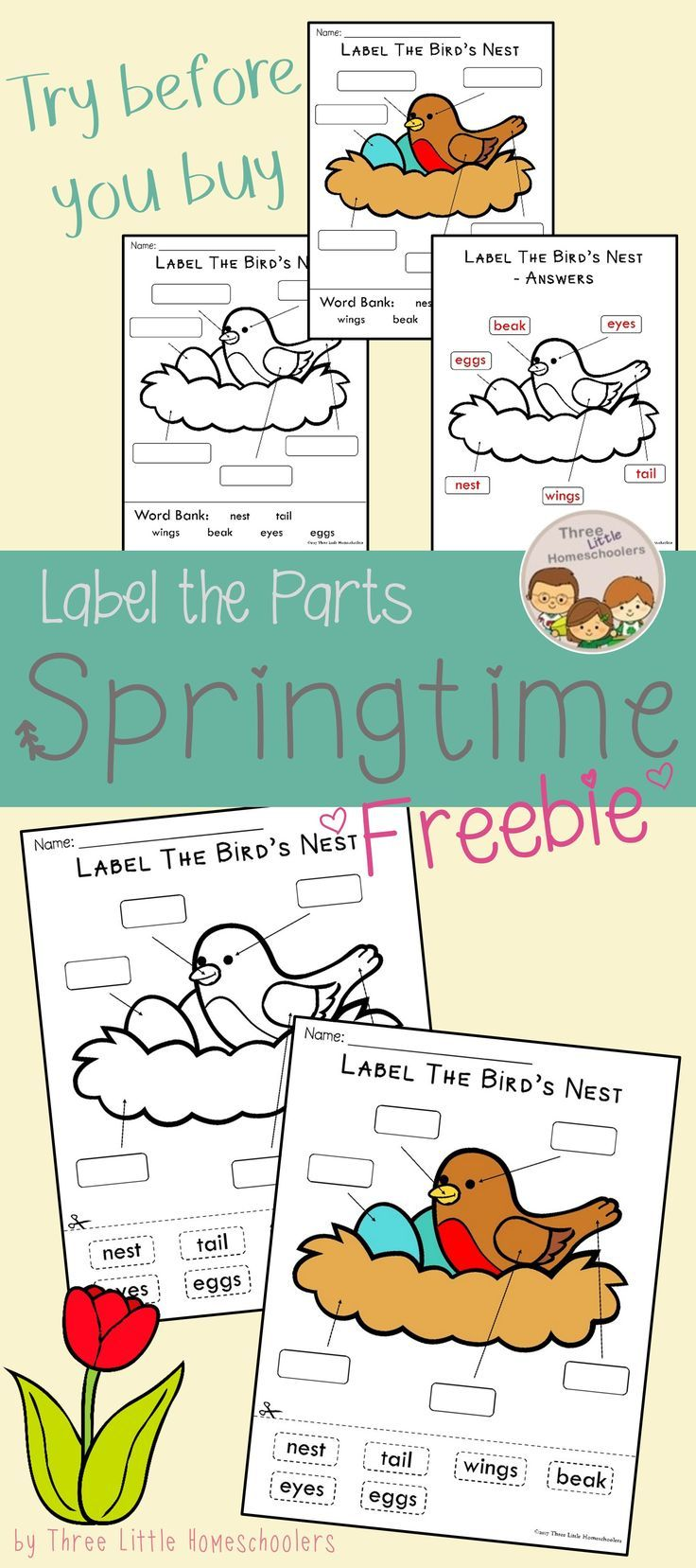 Try before you buy with this free preview of the Label the Parts ...