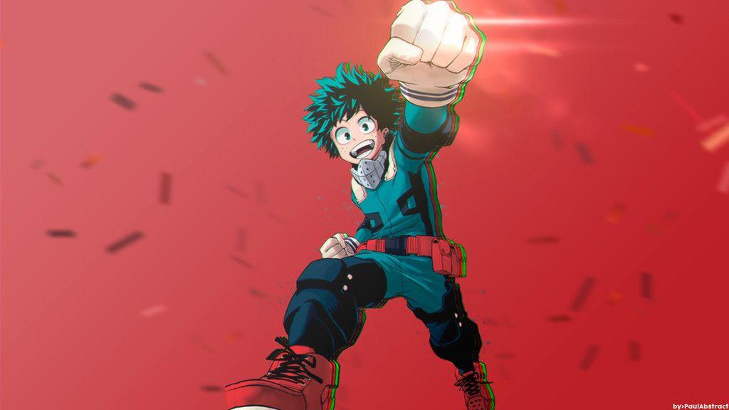 Izuku Midoriya Boku No Hero Academia Punch Anime Boy Happiness Wallpaper My Hero Character Wallpaper Hero