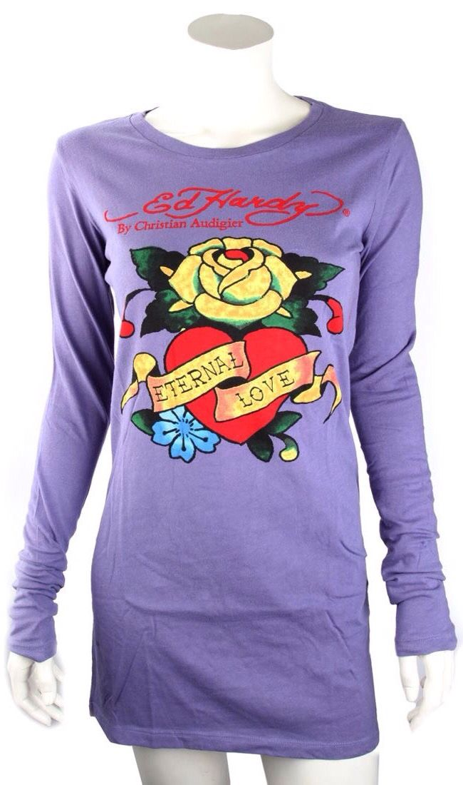 Ed Hardy Purple Basic Eternal Love Tunic   Ed Hardy   Pinterest ... 487cd1a4d5