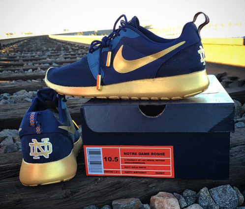 44e5bbb922ba Authentic Nike Roshe Navy Notre Dame