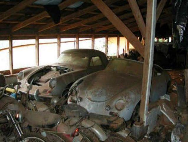 barn find porsches auto porsche 356 pinterest voitures abandonn es abandonn et voitures. Black Bedroom Furniture Sets. Home Design Ideas