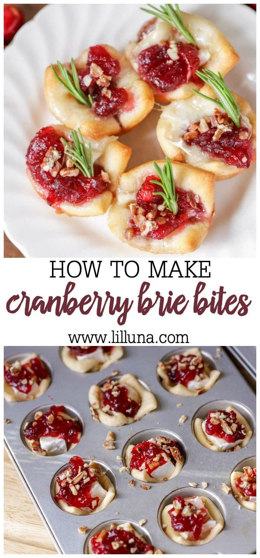 Cranberry Brie Appetizer #cranberrybriebites