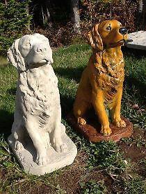 Golden Retriever Dog Statue Concrete New Lawn Ornament City Of Halifax Image 1