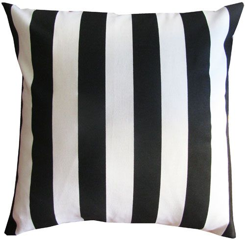 Black & White Stripe Pillow... Can never go wrong with black and white stripes!