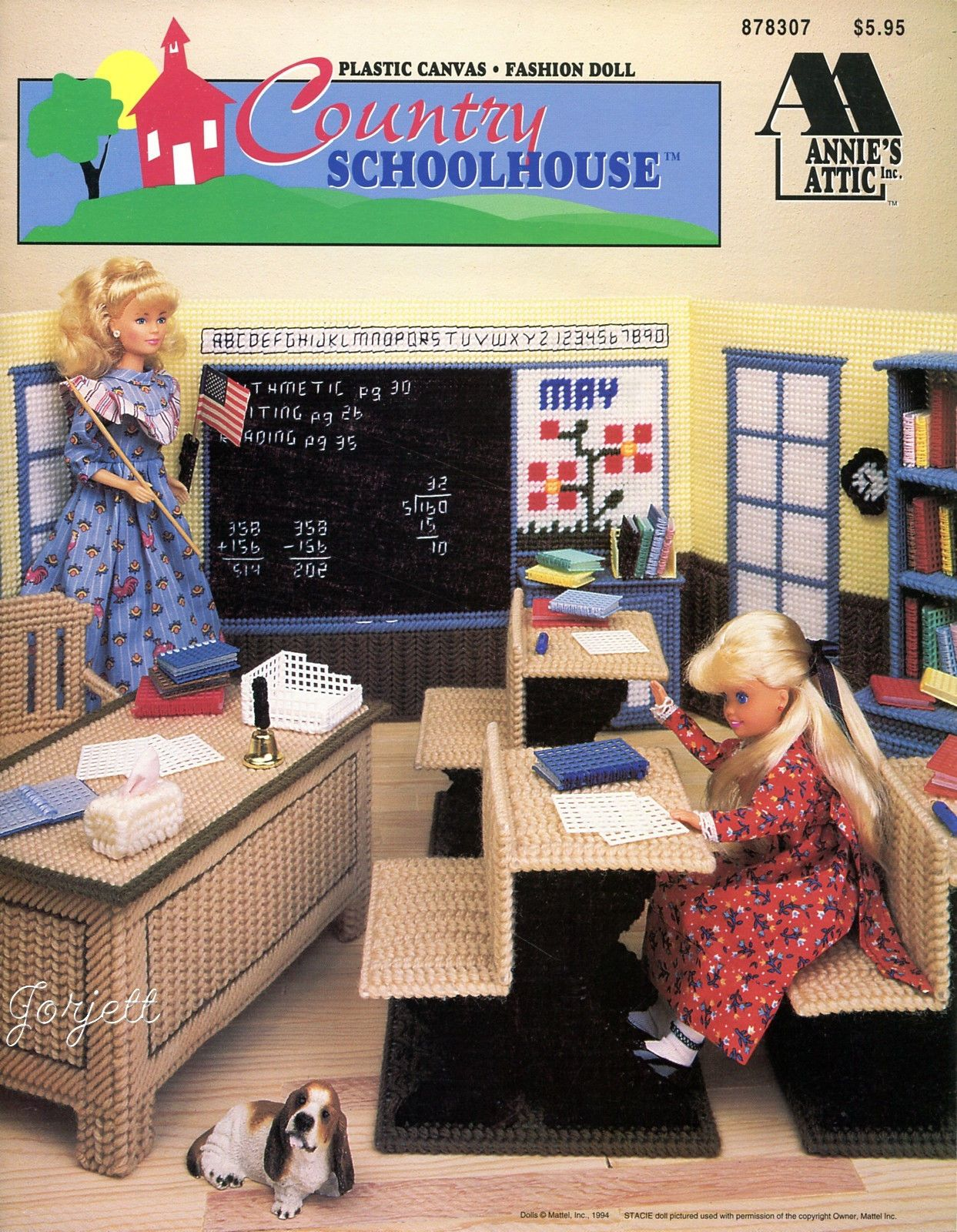 Country Schoolhouse Annies Plastic Canvas Patterns Fit Barbie Fashion Dolls In Crafts Needlecrafts Yarn Embroidery Cross Stitch Hand Embr