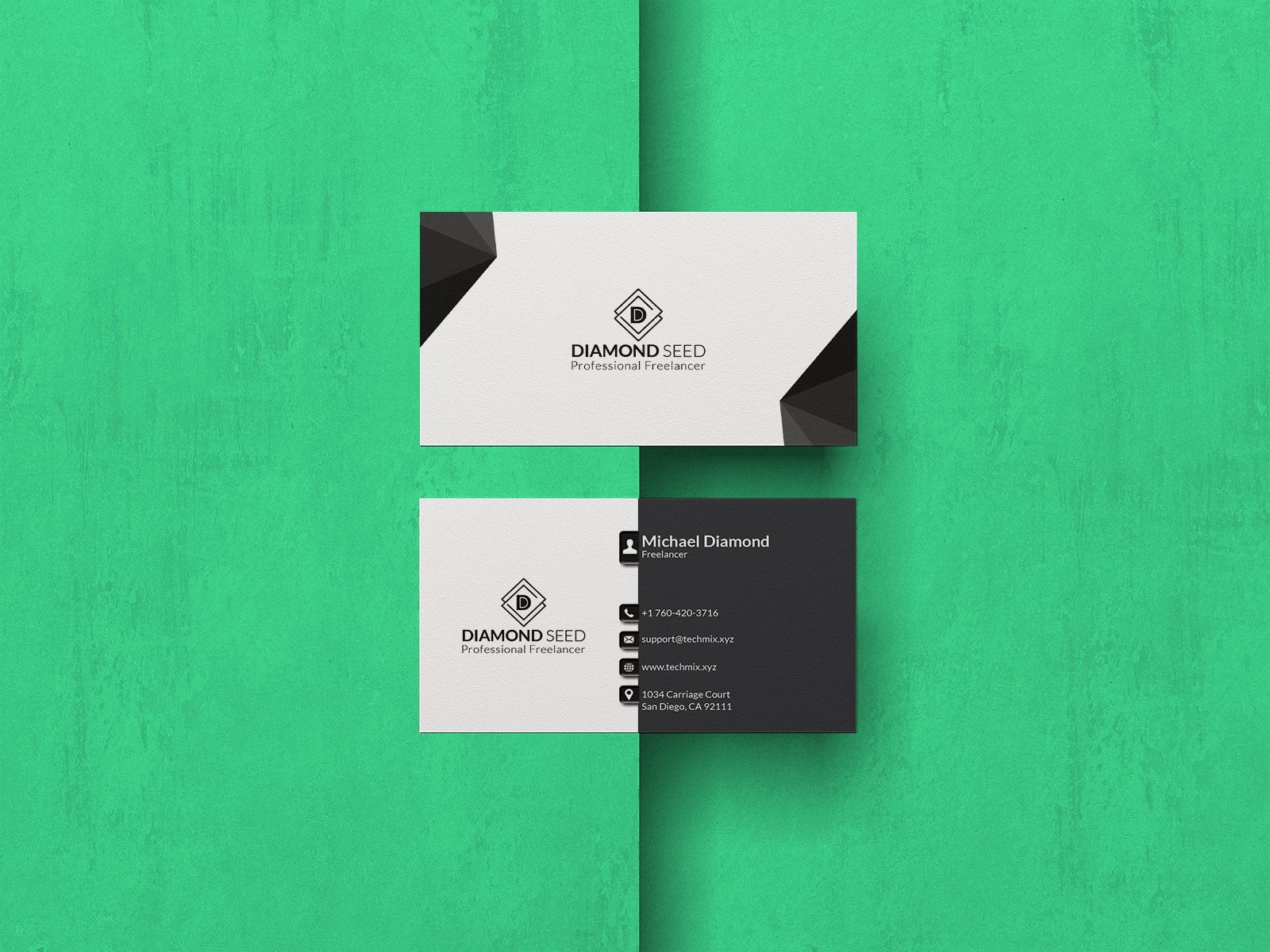 Business Card For Freelancer Freelance Business Card Business