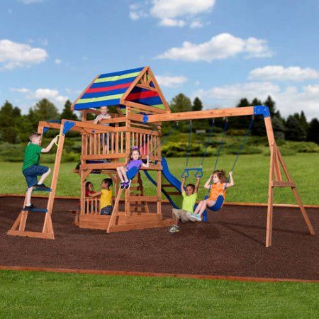 Toys Kids Outdoor Swing Set Kids Indoor Playground Wooden
