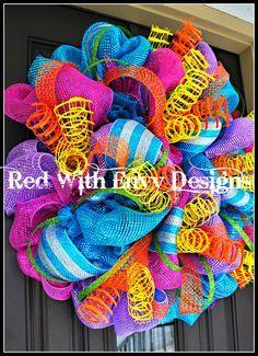 Summer+Wreath+Wreath+Deco+Mesh+Wreath+Deco+by+RedWithEnvyDesigns