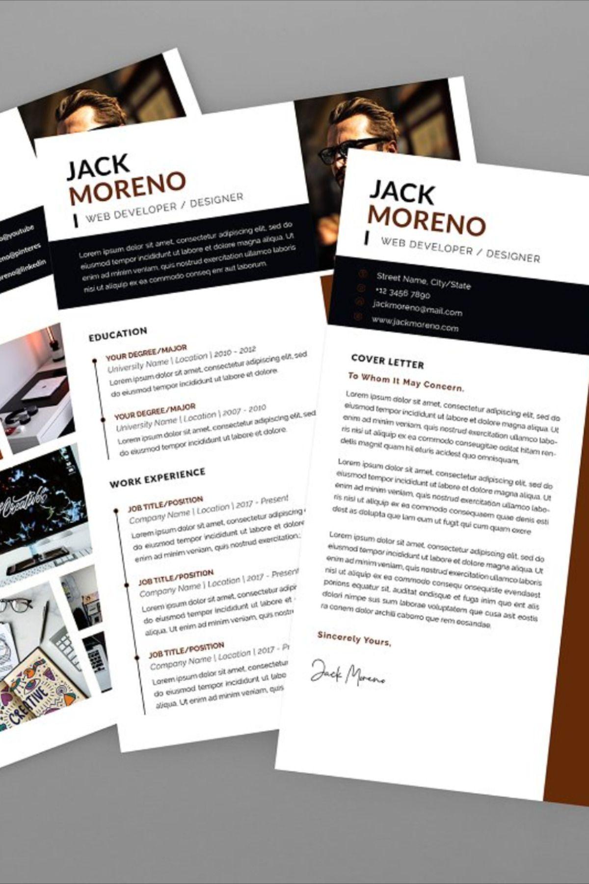 Jack developer resume designer this layout is suitable