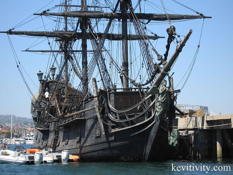 The Black Pearl, San Pedro Harbor. You never know when you might run into Jack Sparrow 'A-ha me hearties!'