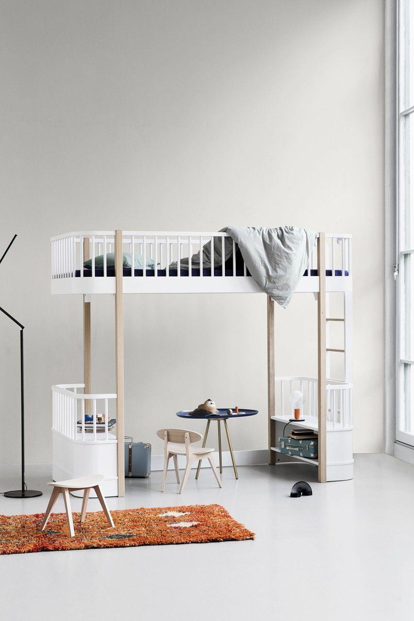 oliver furniture hochbett wood 90x200 cm wei eiche - Oliver Furniture Hochbett
