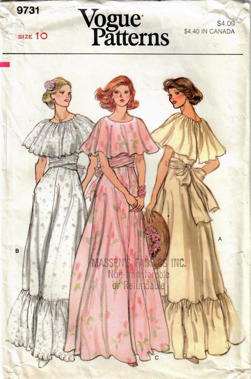 1970s Vogue 9731 Vintage Sewing Pattern Misses Evening Dress Etsy Formal Dress Patterns Vintage Sewing Patterns New Dress Pattern [ 1261 x 837 Pixel ]