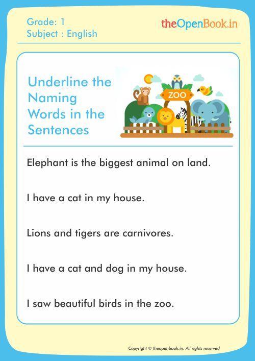 Image result for naming words worksheets for grade 1   1st ...