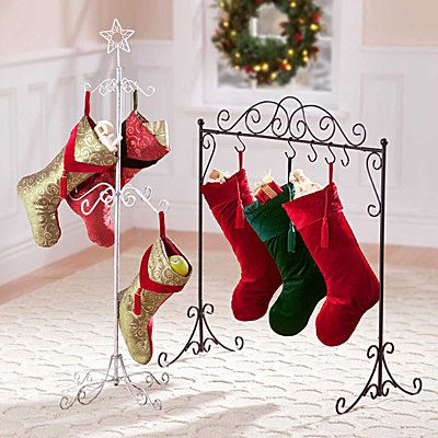 Christmas Stocking Holder Stand....different idea then hanging stockings