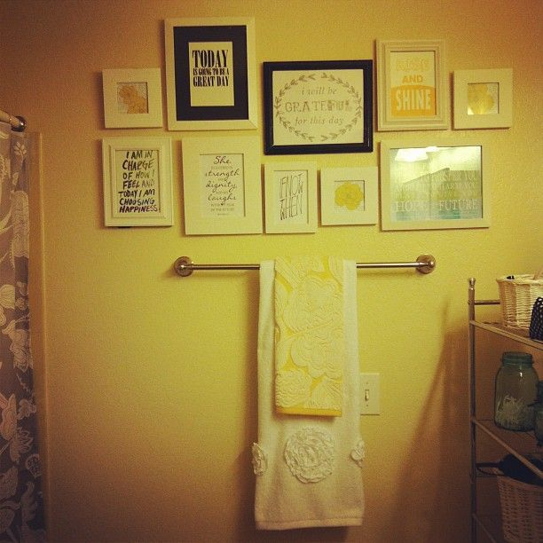 quote wall in the bathroom-why didn\'t i think of that?   Bathrooms ...