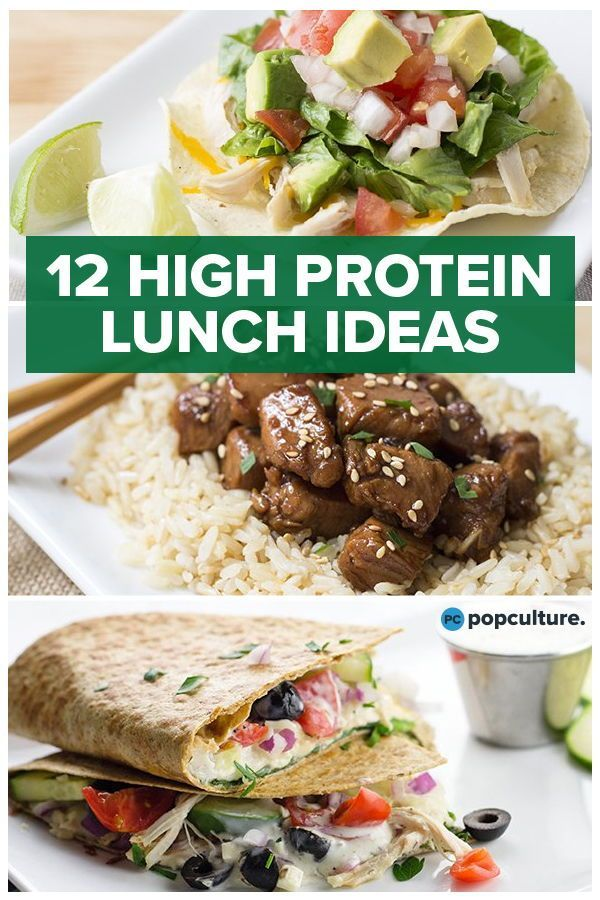 12 High-Protein Lunch Ideas #proteinlunch