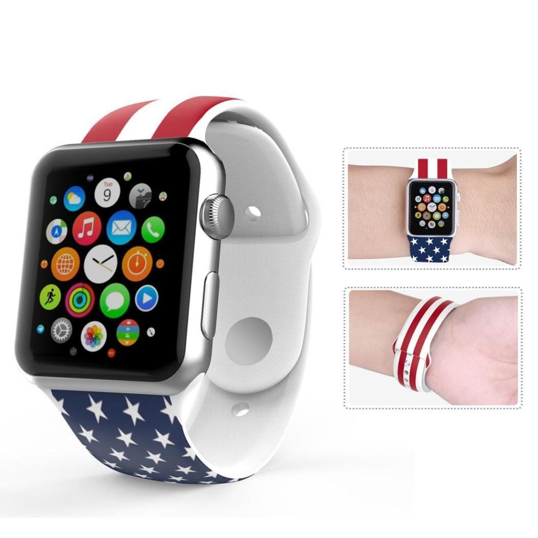 For Apple Watch Band Voberrya Soft Silicone Sport Style