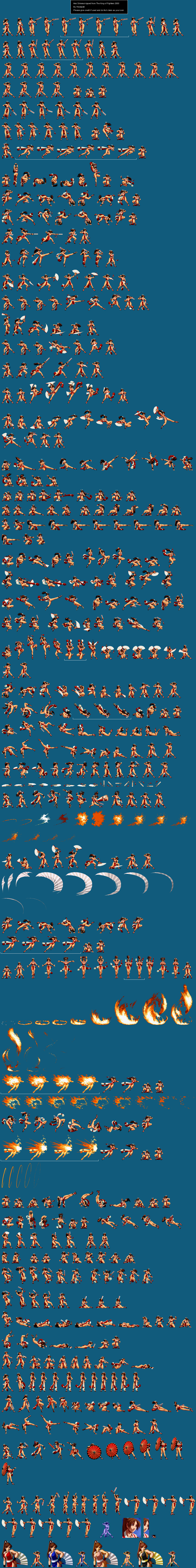 Sprite Database Mai Shiranui In 2021 Sprite Sprite Database King Of Fighters