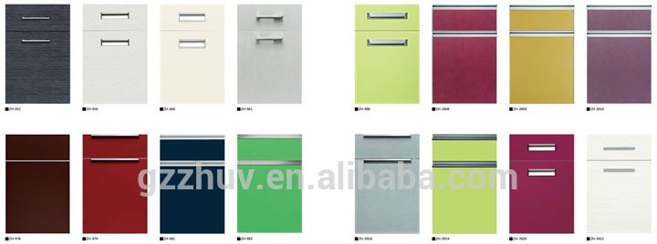 Mdf Painted High Gloss Slab Kitchen Cabinet Doors - Buy Kitchen ...