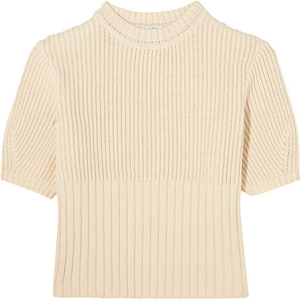 Totême - Serreval Ribbed Cotton-blend Sweater ($117) ❤ liked on ...
