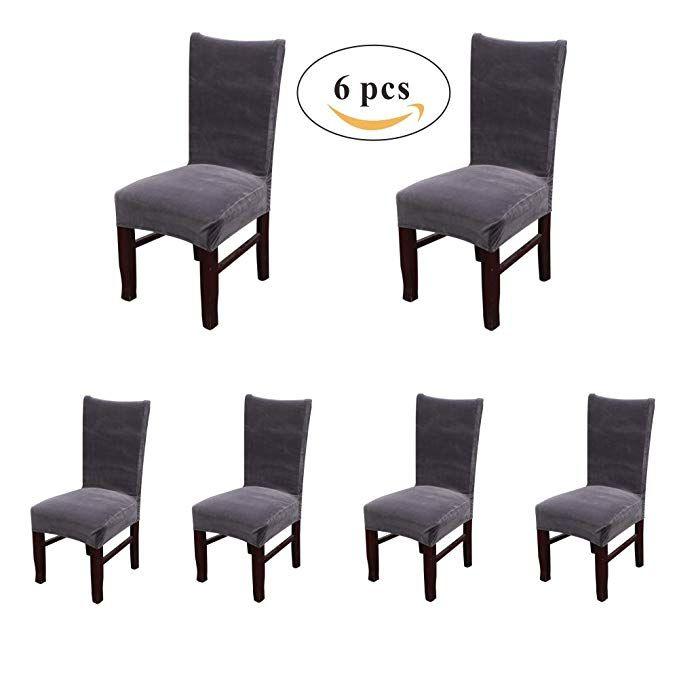 Fabulous My Decor Dining Chair Covers Velvet Spandex Fabric Stretch Machost Co Dining Chair Design Ideas Machostcouk
