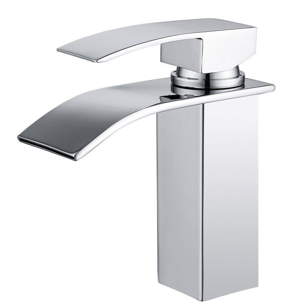 Derpras Chrom Armatur Wasserfall Wasserhahn Bad Mischbatterie Waschbecken Badarmatur Einhebelmischer Waschtischarmatur Waschtischb Soap Dispenser Bathroom Soap