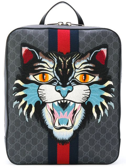 6712453426d5 GUCCI GG Supreme backpack with Angry Cat. #gucci #bags #leather #polyester  #backpacks #