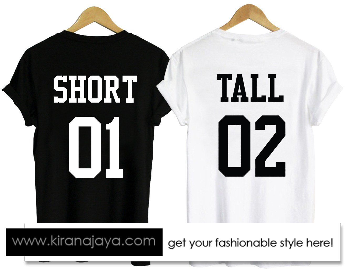 10cfb55fbb Short-and-tall-couple-tshirt-back in 2019 | Clothing | Cute couple ...