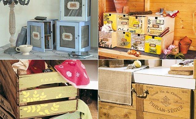 diy 4 rangements avec des objets d tourn s rangement objet et objets d tourn s. Black Bedroom Furniture Sets. Home Design Ideas