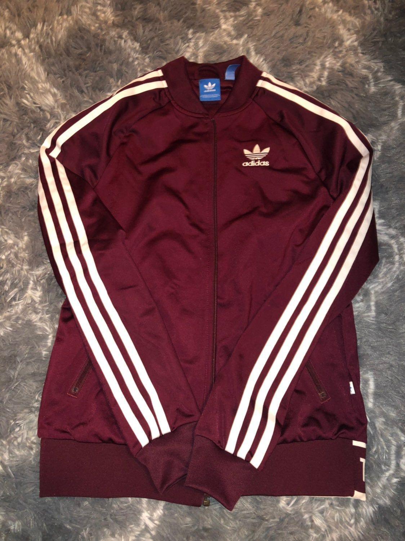 Adidas Maroon Track Full Zip Jacket Jackets Mens Sweatshirts Hoodie Adidas Track Jacket [ 1500 x 1124 Pixel ]