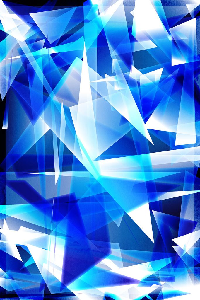 Abstract Shards Blue Art Wallpaper Abstract Abstract Artwork