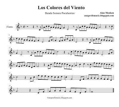 AnaProfeMusic: BSO Pocahontas - Los colores del Viento