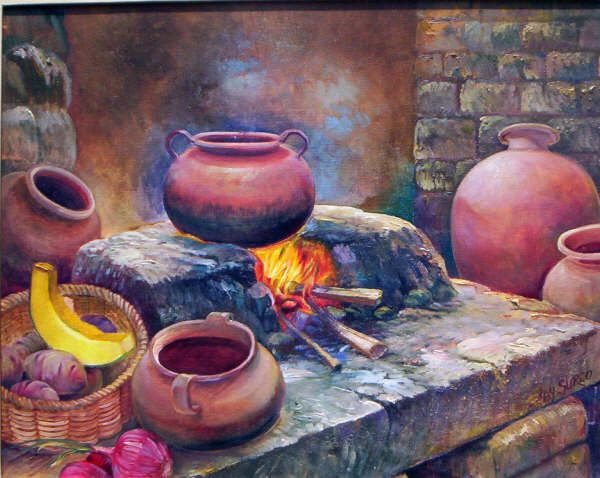 Pintura al oleo para su sala comedor peruanos en usa - Pintura comedor moderno ...
