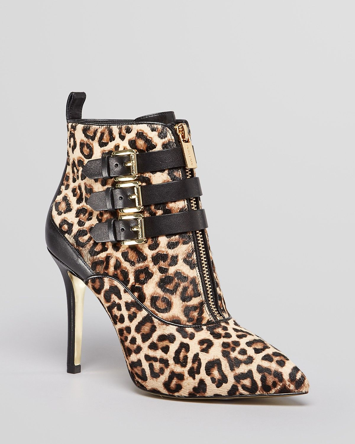 c7ad28310b4 MICHAEL Michael Kors Pointed Toe Booties - Brena Leopard Print High Heel