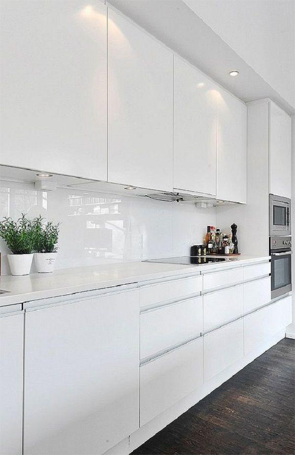 Tipos de cocinas en linea moderna blanca cocinas for Cocinas en linea
